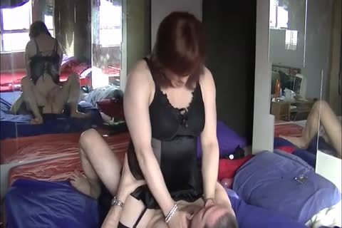 This ladyboy receives Her mature twat Nailed